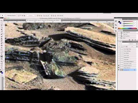 NASA Mars image Sol 620: ship with Grey Alien, a Vimana or ancient space station?