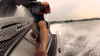 5. Driving fast and furious on a Yamaha Waverunner FX HO Cruiser