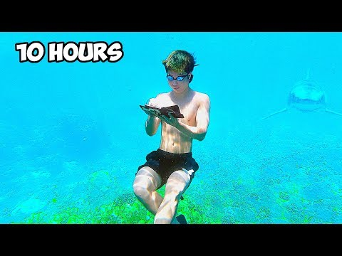 Drawing 10 Hours Straight Under Water Challenge | ZHC