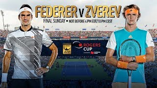 Roger Federer and Alexander Zverev will face off for the Coupe Rogers title on Sunday in Montreal. Watch live matches at...