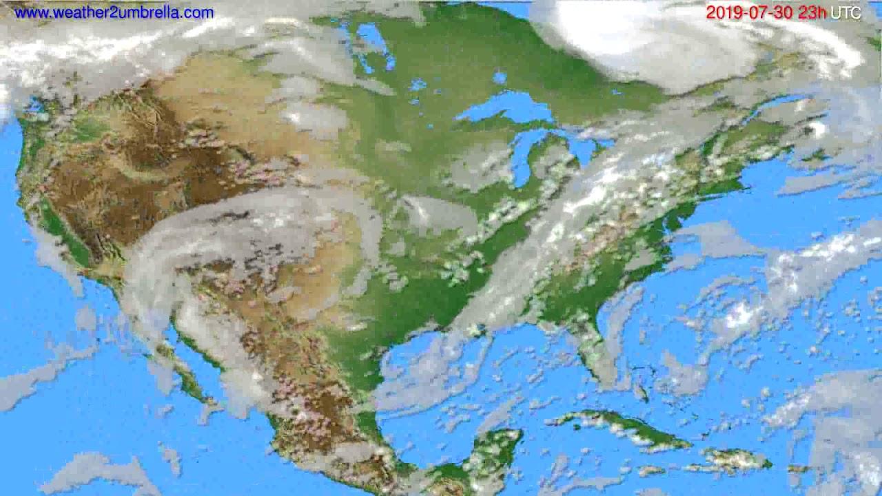 Cloud forecast USA & Canada // modelrun: 12h UTC 2019-07-27