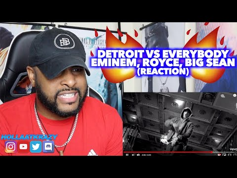 DETROIT VS EVERYONE (EMINEM, ROYCE, BIG SEAN, DEJ LOAF, DANNY BROWN, TRICK TRICK) | REACTION