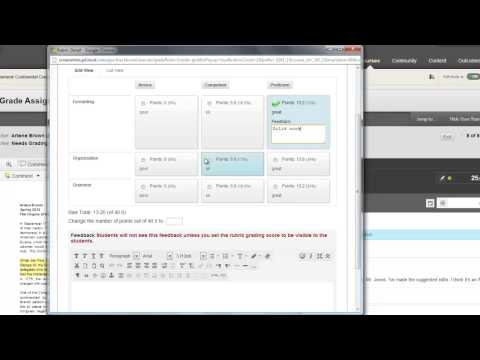 Blackboard Learn Quick Hit: Inline Assignment Grading