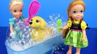 Video Pet GROOMING ! Elsa and Anna toddlers at the animal salon – Bath – Brushing MP3, 3GP, MP4, WEBM, AVI, FLV Agustus 2018