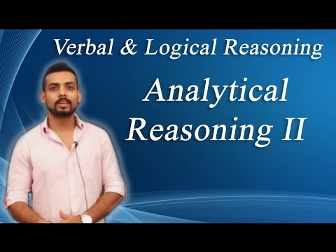 How To Solve Analytical  Reasoning  Problems Non Verbal Reasoning-II : ( IBPS, GRE, GMAT, CAT,)