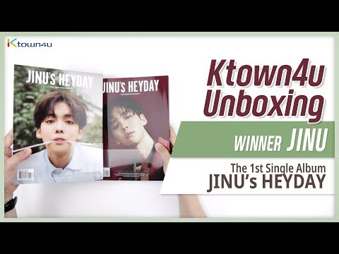 "Unboxing JINU ""JINU's HEYDAY"" the 1st single, 위너 진우 싱글 언박싱 Kpop Ktown4u"