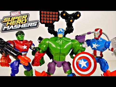 toys - New Marvel Super Hero Mashers Hulk Captain America and The Iron Patriot Avengers Movie Superheroes Toys. Combine forces and mix parts from all the superhero ...