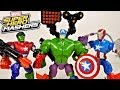 Marvel Superhero Mashers Captain America Iron Patriot and Hulk Toys Review - Disney Cars Toy Club