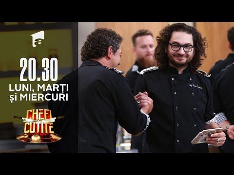 Chefi la cuțite | Chef Dumitrescu atacă cu o amuletă! Doi concurenți, blocați timp de 30 de minute
