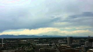 Dancing Clouds Over #Denver, Colorado In #TimeLapse #COWX ~ JULY 6th 2014