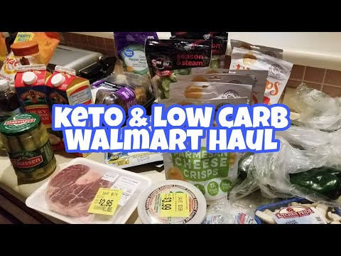 Low carb diet - Keto and Low Carb Mini Grocery Haul  - Walmart Grocery Haul