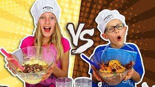 Video VANILLA vs. CHOCOLATE CAKE CHALLENGE! MP3, 3GP, MP4, WEBM, AVI, FLV Juli 2018