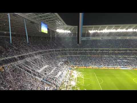 GRÊMIO X Cruzeiro - Entrada em campo - bobinas - copa do Brasil 2017 - Geral do Grêmio - Grêmio