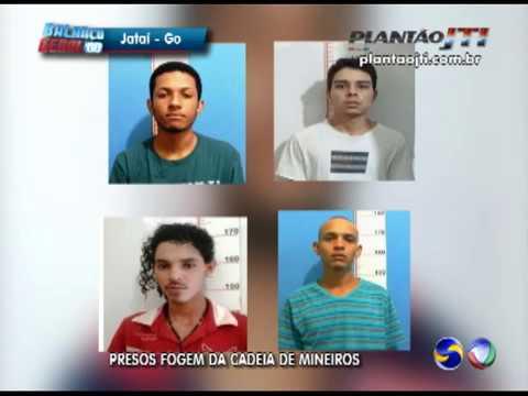 Detentos fogem da agência prisional em Mineiros