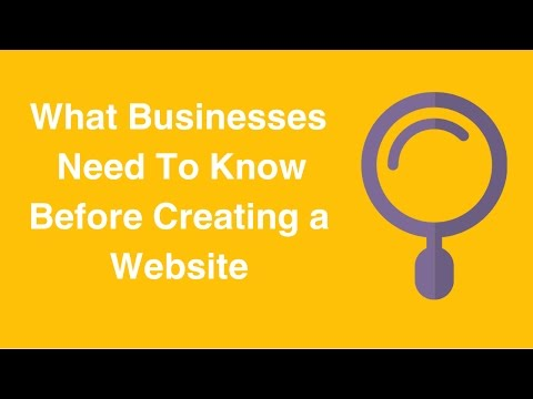 Watch 'What Businesses Need To Know Before Creating a Website - YouTube'