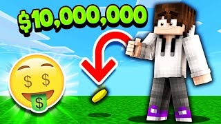 COIN FLIP DECIDES WHETHER I'M POOR OR RICH! *ALL IN* (Minecraft Skyblock)