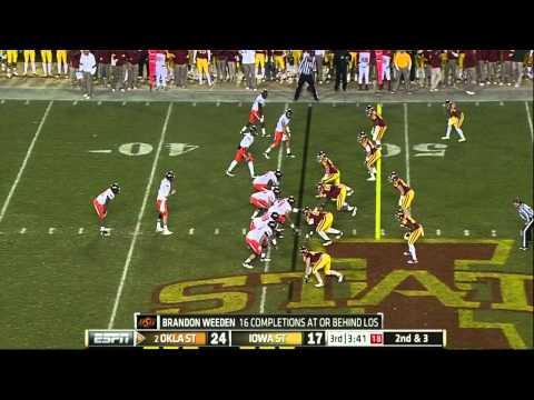 Brandon Weeden vs Iowa St. 2011 video.