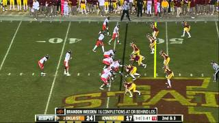 Brandon Weeden vs Iowa State