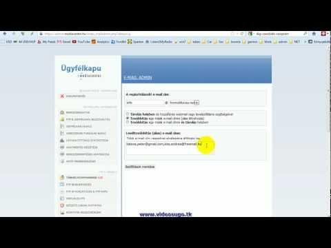 Email címek létrehozása