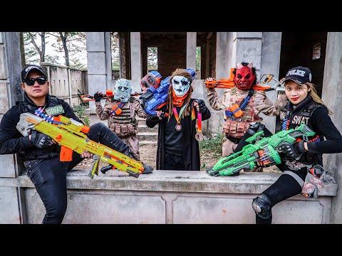 LTT Films : Couple S.E.A.L X Nerf Guns Fight Crime Group Grakk Mask Chasing The Devil