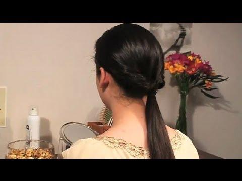 Cómo hacer una cola de caballo invertida : Peinados con trenzas