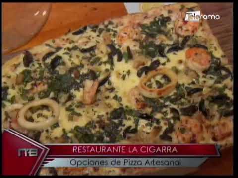 Restaurante La Cigarra opciones de pizza artesanal