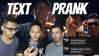 TEXT PRANK MAMA PAKE LIRIK LAGU ( Young Lex ft AwKarin - BAD ) GONE WRONG!!