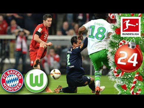 FC Bayern vs. Wolfsburg - Lewandowski's 5 Goals in 9 Minutes | FULL GAME 15/16 | Advent Calendar 24