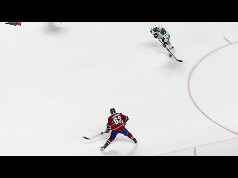 Video: Lehkonen vs. Lehtonen: Canadiens winger fires clapper past Stars goalie