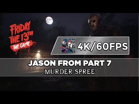 Friday The 13th: The Game BETA Gameplay - Jason (4k/60fps) 7 MURDER SPREE