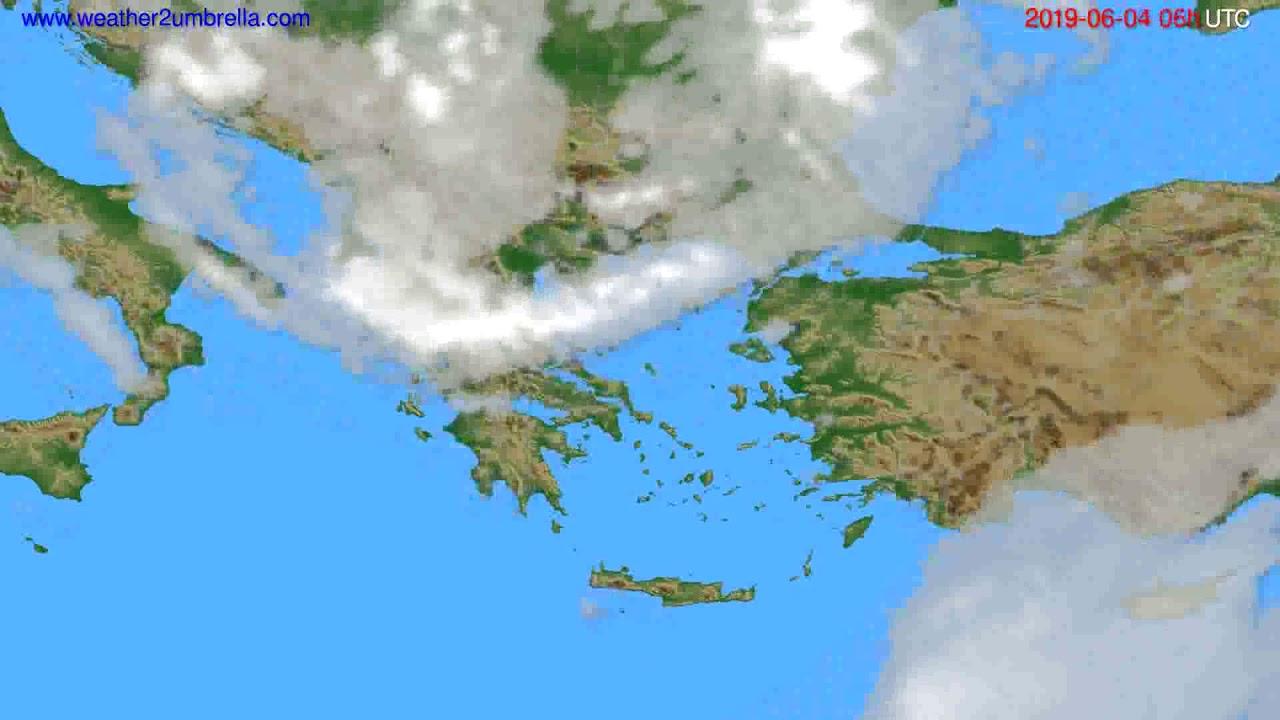 Cloud forecast Greece // modelrun: 00h UTC 2019-06-02