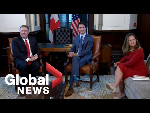 U.S. Secretary of State meets with Canadian counterpart Freeland, Prime Minister Trudeau