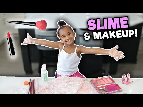 MIXING MAKEUP INTO SLIME