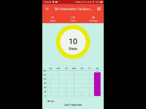 SD Pedometer Fat Burner (Android App)