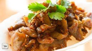 Cerdo frito con ajo y pimienta