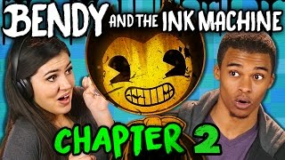 DISNEY HORROR IS BACK! | Bendy and the Ink Machine: Chapter 2 (Teens React: Gaming)