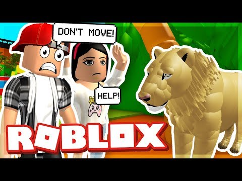 OUR DATE AT THE ZOO WAS RUINED! - ROBLOX ESCAPE THE ZOO OBBY (видео)