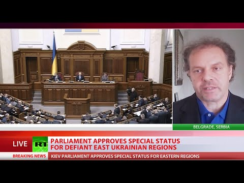 special - Ukraine's parliament has approved special status for the defiant eastern regions of the country. The bill promises early local elections, and an amnesty for those who took part in the conflict...