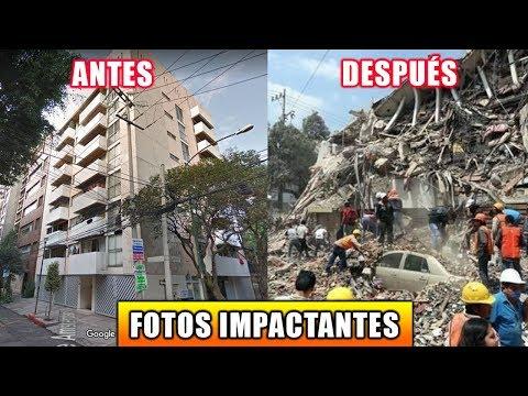 EDIFICIOS ANTES Y DESPUÉS DEL TERREMOTO 7.1 MÉXICO 19 SEPTIEMBRE (видео)