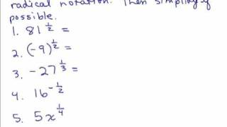 Rational Exponents 1