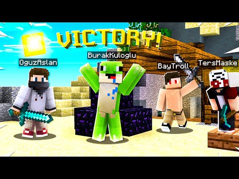 YENİLMİYORUZ! (Ekipli) ft.OğuzAslan,TersMaske,BayTroll - Minecraft Bed Wars