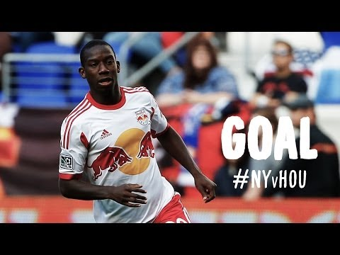 silver - Goal! New York Red Bulls 1, Houston Dynamo 0. Bradley Wright-Phillips (New York Red Bulls) right footed shot from the center of the box to the center of the goal. Assisted by Thierry Henry...