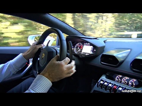 Lamborghini Huracán RIDE – Tunnels, Accelerations, Downshifts & Backfires!