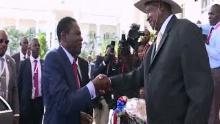 The President of Equatorial Guinea, Obiang Nguema arrived in the country this afternoon for talks with President Yoweri Museveni at State House Entebbe. Acco...