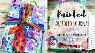 Painted Portfolio Journal
