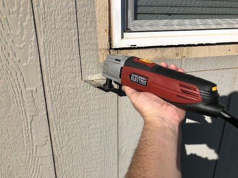 Using the Chicago Electric Variable Speed Oscillating Multi-Tool from Harbor Freight 63113 63111