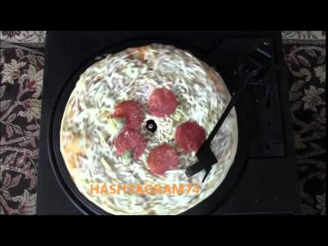 Funny: What a pizza sounds like on a record player