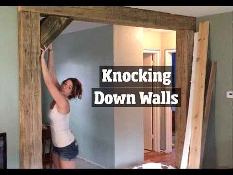How to Update a 1950's Home  - Removing Walls, Remodeling  and Creating a DIY Open home floor plan
