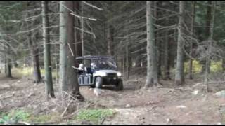 4. polaris ranger crew 2008 go in to the deep forest
