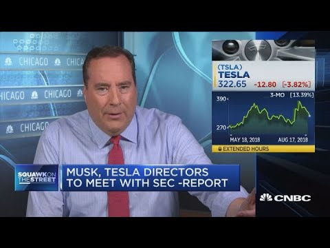 Musk and Tesla directors to meet with SEC: NYT
